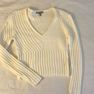 Off white cropped sweater